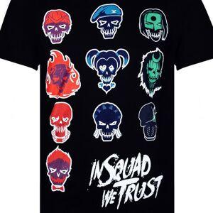 Geek Clothing Suicide Squad Men's Villan Skull T-Shirt - Schwarz - L - Schwarz