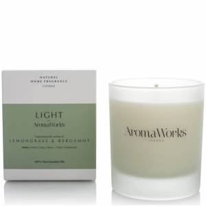 AromaWorks Light Range Candle - Lemongrass and Bergamot 30cl