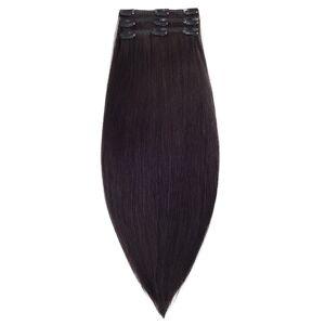 Rapunzel® Hair extensions Clip-on Set Original 3 pieces 1.2 Black Brown 50 cm