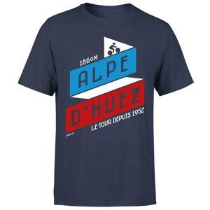 The Broom Wagon ALPE D'HUEZ Men's T-Shirt - Navy - S - Navy