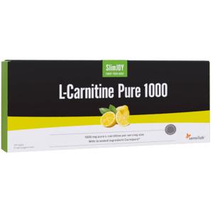 Pure SlimJOY L-Carnitine Pure 1000 mg   L-Carnitine Carnipure - das reinste flüssige L-Carnitin auf dem Markt   Zitronengeschmack   10 Ampullen   SlimJOY