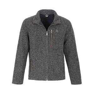 Schöffel Strickfleece-Jacke  grau Größe: 56 Herren Kunstfaser