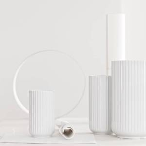 Lyngby Porcelæn - Lyngbyvase, weiß, H 25 cm
