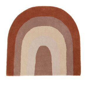 OYOY - Rainbow Kinderteppich, 88 x 90 cm, schoko