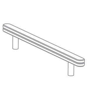Pure Position - Growing Table Führungsschiene für Zeichenrolle, HPL weiß