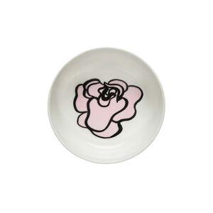 Marimekko - Oiva Eläköön Elämä Schale 400 ml, weiß / pink