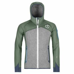 Ortovox Tech Hoodie Ortovox Fleece Plus Hood green forest L