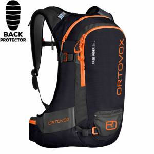 Ortovox Snowboard backpack Ortovox Free Rider 26 L black raven