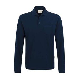 HAKRO 809 Comfort Fit Longsleeve Poloshirt nachtblau, Einfarbig