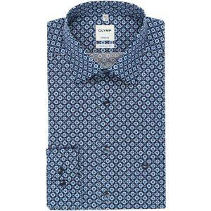 OLYMP Tendenz Modern Fit Hemd bleu, Gemustert