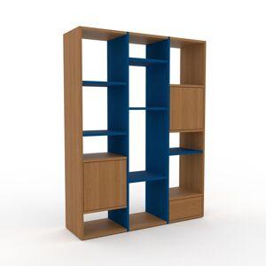 MYCS Bücherregal Eiche - Modernes Regal für Bücher: Schubladen in Eiche & Türen in Eiche - 118 x 157 x 35 cm, konfigurierbar