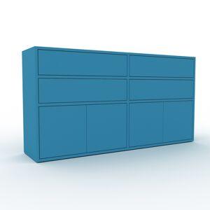 MYCS Sideboard Blau - Sideboard: Schubladen in Blau & Türen in Blau - Hochwertige Materialien - 152 x 80 x 35 cm, konfigurierbar