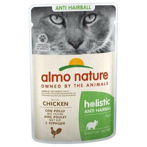 Almo Nature Holistic Anti Hairball 24 x 70 g Huhn