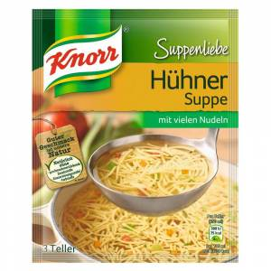 Knorr 3 Beutel à 69 g Knorr Suppenliebe Hühnersuppe