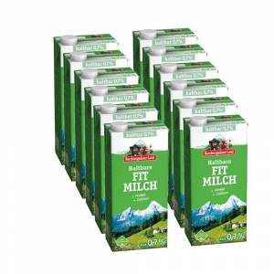 Berchtesgadener Land 12x 1L Berchtesgadener Land Haltbare Fit-Milch 0,7% Fett