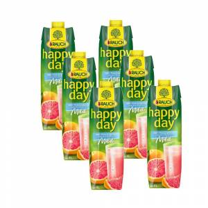 Happy Day Rauch Happy Day 100% Pink Grapefruit Mild - 6 x 1 l