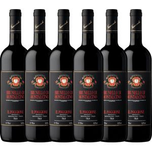 Tenuta Il Poggione 6er Vorteils-Weinpaket - Brunello di Montalcino DOCG 2013 - Tenuta il Poggione Rotwein, Weinpaket trocken aus Italien Toskana Brunello di Montalcin...