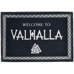 Welcome to Valhalla Fußmatte-schwarz weiß - Offizieller & Lizenzierter Fanartikel Onesize       Unisex