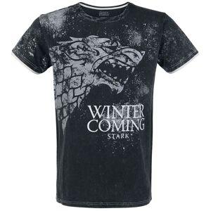 Game Of Thrones Stark - Winter Is Herren-T-Shirt  - Offizieller & Lizenzierter Fanartikel S, M, L, 3XL, 5XL       Herren