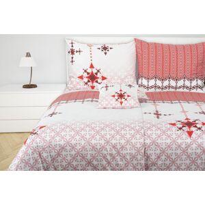 Glamonde Weihnachtsbettwäsche Stella rot 70×90 cm 140×220 cm reißverschluss