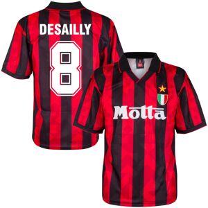 Score Draw AC Mailand Home Desailly 8 Retro Trikot 1993-1994 (Retro Filz-Spielerbeflockung) - XL