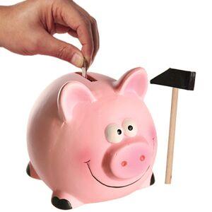 BigBuy Home Sparschwein aus Keramik in der Kiste 14 x 12 cm