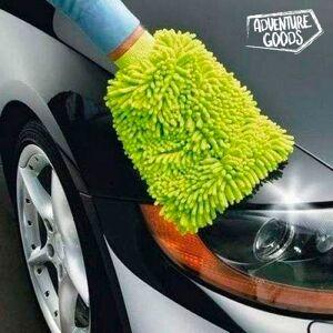 BigBuy Car Microfaser Autowasch-Handschuh