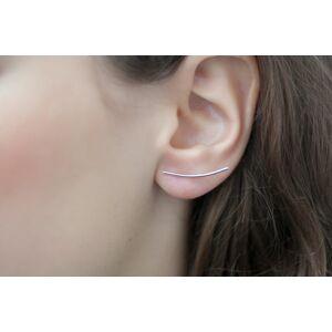 Elise et moi Stäbchen Ohrringe aus Silber. Minimalistischer Schmuck