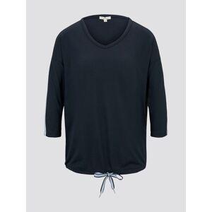 TOM TAILOR Shirt mit Tape-Detail, Damen, Sky Captain Blue, Größe: XS