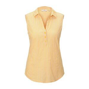 TOM TAILOR Ärmellose Hemdbluse mit Streifenmusterung, Damen, yellow dobby stripe, Größe: 40