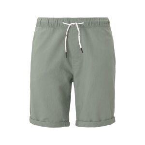 TOM TAILOR DENIM Shorts im Joggerfit aus Leinengemisch, Herren, Dusty Leave Green, Größe: L