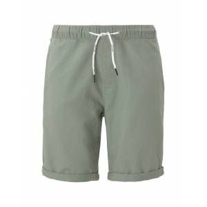 TOM TAILOR DENIM Shorts im Joggerfit aus Leinengemisch, Herren, Dusty Leave Green, Größe: M