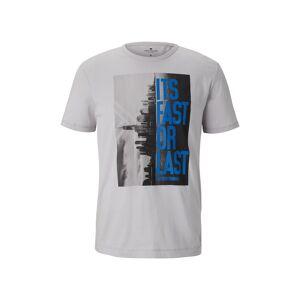 TOM TAILOR T-Shirt mit NYC-Print, Herren, mushroom, Größe: XL