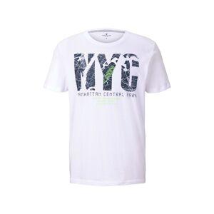 TOM TAILOR T-Shirt mit NYC-Print, Herren, White, Größe: S
