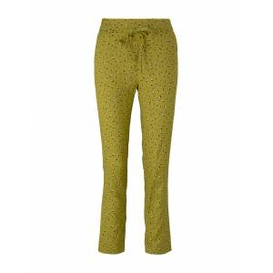 TOM TAILOR Elastische Loose Fit Hose mit LENZING(TM) ECOVERO(TM), Damen, green geometrical design, Größe: 40/28