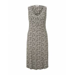 TOM TAILOR Gemustertes Kleid mit V-Ausschnitt, Damen, khaki offwhite floral design, Größe: 40