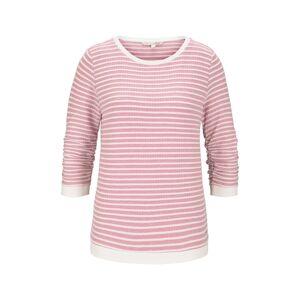 TOM TAILOR DENIM Gestreiftes Jacquard Sweatshirt, Damen, rose structure stripe, Größe: S