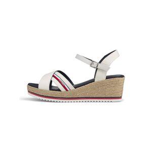 TOM TAILOR Sandaletten mit Keilabsatz, Damen, offwhite, Größe: 42