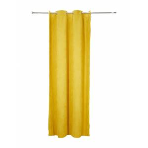 TOM TAILOR Vorhang in Cord-Optik,  yellow, Größe: 140/245