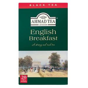 Ahmad Tea Schwarzer Tee English Breakfast Tea  20x2g Alu-Beutel