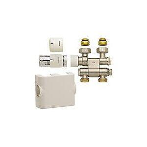 Megabad Oventrop Anschlussset Multiblock TF UNI SH weiss für Mittelanschluss für Megabad Badheizkörper mit Mittelanschluss   D054.AMWEISS