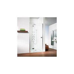 HSK Premium Softcube Drehtür pendelbar für Nische mit Nebenteil 90 cm, Anschlag links  B: 90 H: 200 cm  68014090-41-50edelglas-200cm-L