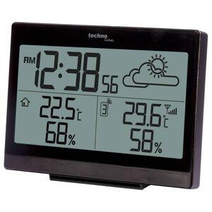 Techno Line Funkuhr mit Wetteranzeige + Weckalarm incl. Außensensor