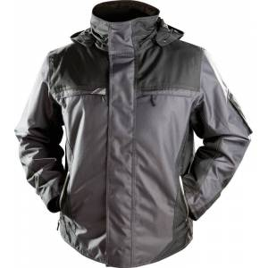 Winterjacke YUKON, Farbe schwarz/grau, Größe 3XL