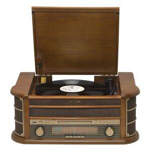 Denver Retro Plattenspieler mit USB, CD, Radio, Kassette und Lautsprechern