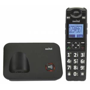 Switel Komfort-Telefon D7000 Vita+ mit großer SOS-Direktwahltaste und Vibrationsalarm