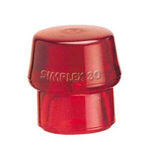 Halder Ersatzkopf Plastik, rot, hart, für Gerüst- und Zeltbau, Zimmerei, universell einsetzbar