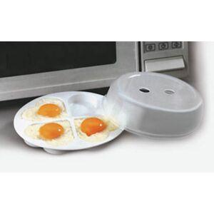 Westfalia Mikrowellen-Pfanne für Eier, Blitzeier-Pfanne, Weiß