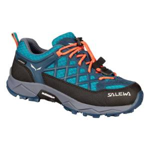 Salewa  JR WILDFIRE WP - Caneel Bay/Fluo Coral - 28