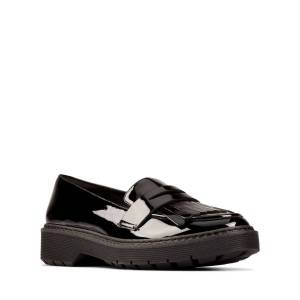 Clarks Loafers - Witcombe Dawn Schwarzes Lackleder 35.5